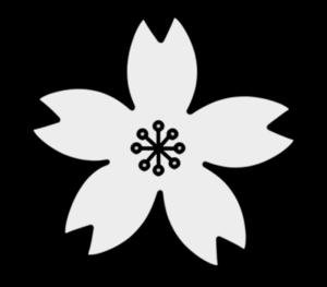 サクラ モノクロフリー素材