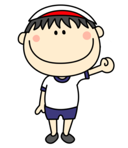 体操服 紅白帽 男の子 フリー素材 白組