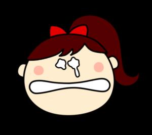 泣く 女の子 ポニーテール