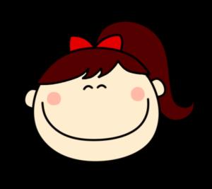 笑顔 にっこり 笑う 女の子 ポニーテール