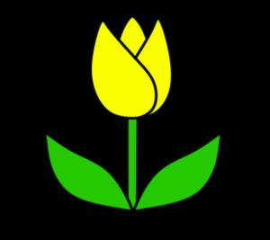 チューリップ フリー素材 黄色