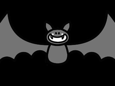 コウモリ 白黒フリー素材 モノクロ ハロウィン
