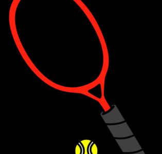 テニスボール テニスラケット フリー素材