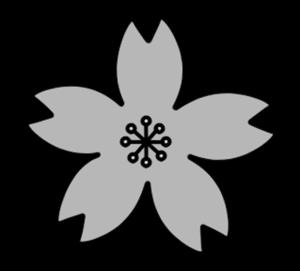 桜 白黒フリー素材