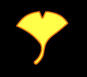銀杏 フリー素材 黄色