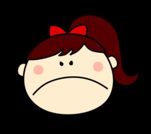 怒る プンプン 女の子 ポニーテール