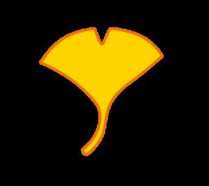 銀杏 フリー素材 山吹色