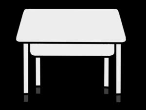 学校机 白黒フリー素材