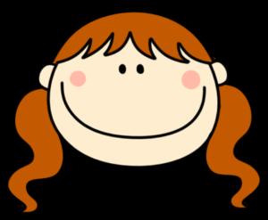 笑顔 微笑む ツインテールの女の子 フリー素材