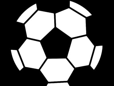 サッカーボール 白黒フリー素材