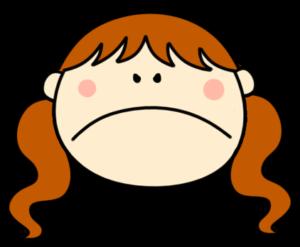 怒る ツインテールの女の子 フリー素材