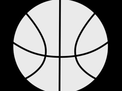 バスケットボール 白黒フリー素材