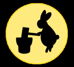 月とウサギ フリー素材