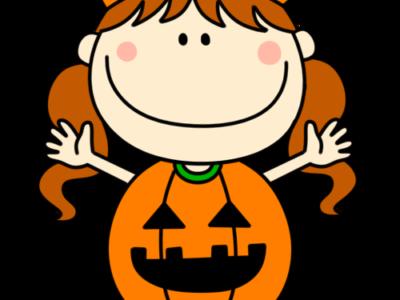 ハロウィン かぼちゃ衣装 フリー素材
