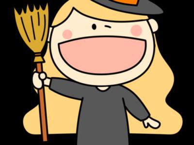 ハロウィン 魔女コスプレ フリー素材