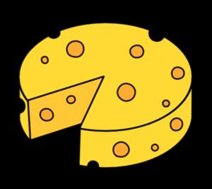 チーズ 丸 円形 フリー素材