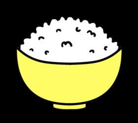 ごはん フリー素材 お茶碗黄色