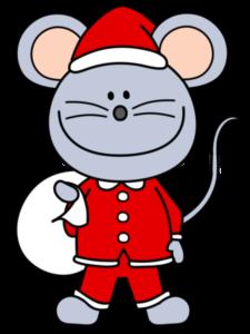 ねずみ イラスト フリー素材 12月 クリスマス