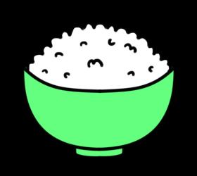 ごはん フリー素材 お茶碗緑