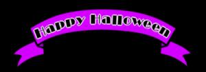 ハロウィンロゴ リボン フリー素材 紫