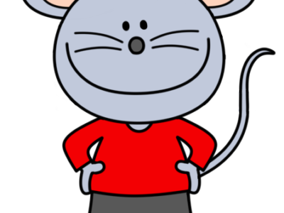 ネズミの男の子のイラスト フリー素材