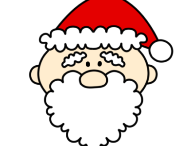サンタクロース 顔 クリスマスフリー素材 右向き