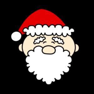 サンタクロース 笑顔 クリスマスフリー素材 左向き