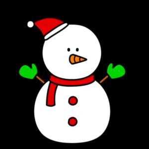 雪だるま フリー素材 クリスマス 左向き