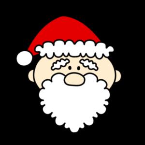 サンタクロース 顔 クリスマスフリー素材 左向き