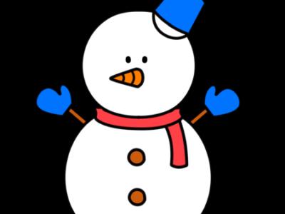 雪だるま フリー素材 水色 右向き