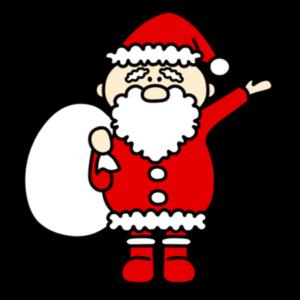 サンタクロース 全身 クリスマス フリー素材