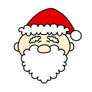 サンタクロース 笑顔 クリスマスフリー素材 右向き