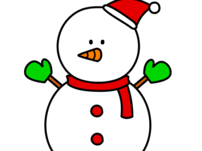 雪だるま フリー素材 クリスマス 右向き