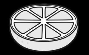 みかん 白黒フリー素材 カット