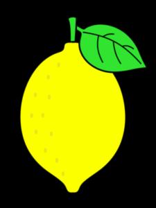 レモン フリー素材 葉っぱあり