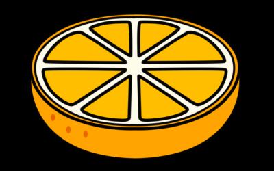 みかん フリー素材 オレンジ色 カット