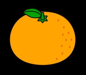 みかん フリー素材 オレンジ色 葉っぱつき