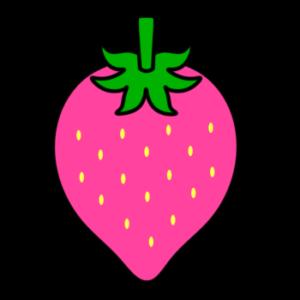 イチゴ フリー素材 ピンク