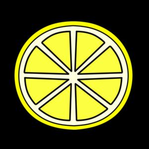 レモン フリー素材 スライス