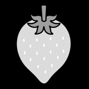 イチゴ 白黒フリー素材