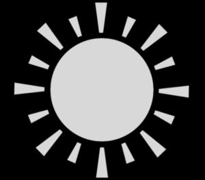 太陽 白黒フリー素材 お日様