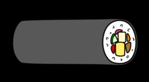 恵方巻き イラスト 横向き 左 節分 フリー素材