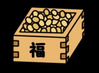節分 豆まき 豆 フリー素材