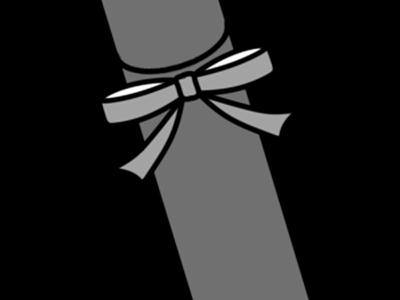 卒業証書 筒 白黒フリー素材 賞状筒