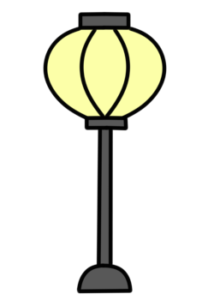 雛人形 ぼんぼり 黄色 フリー素材 ひな祭りイラスト