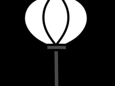 雛人形 ぼんぼり 白黒フリー素材 ひな祭りイラスト