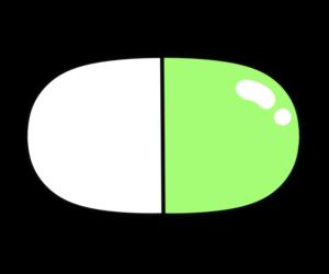薬 イラスト カプセル フリー素材 緑