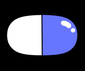 薬 イラスト カプセル フリー素材 青