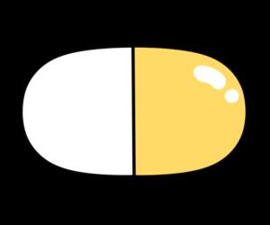 薬 イラスト カプセル フリー素材 オレンジ