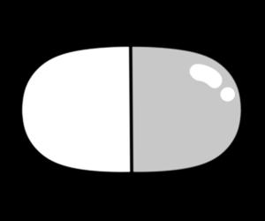 薬 イラスト カプセル 白黒フリー素材